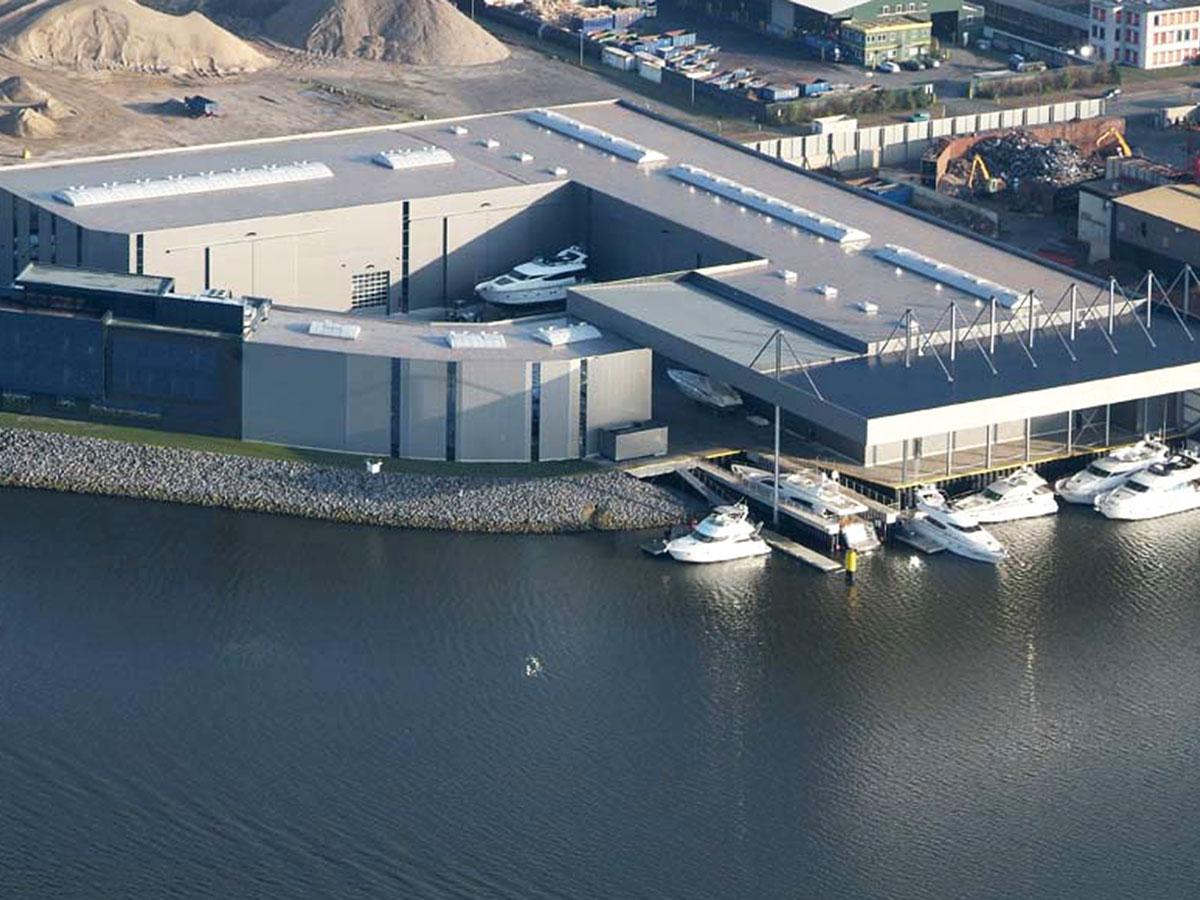 Bootswerft und Bootslagerhalle