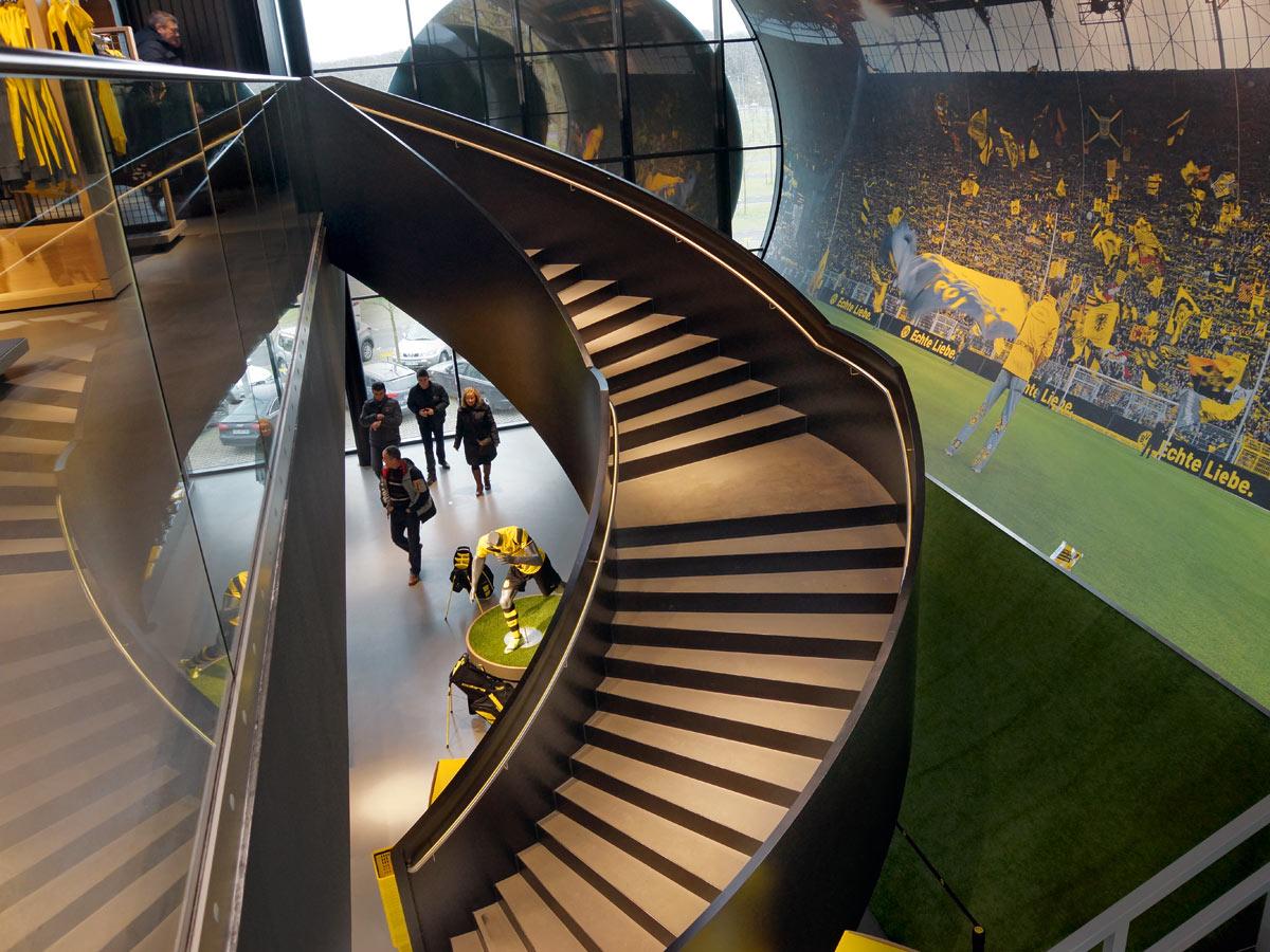 Treppe BVB Fanwelt