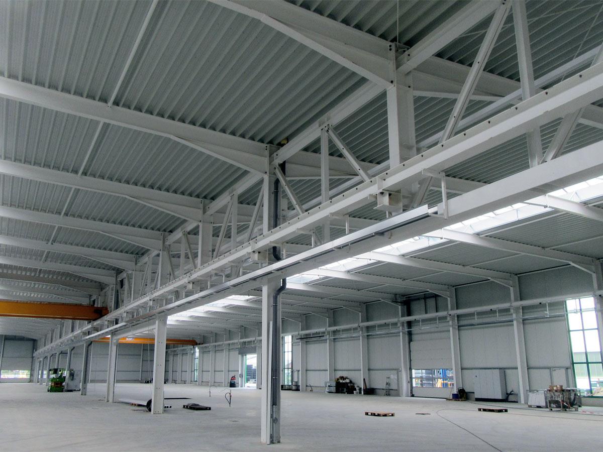 Neubau einer Produktionshalle